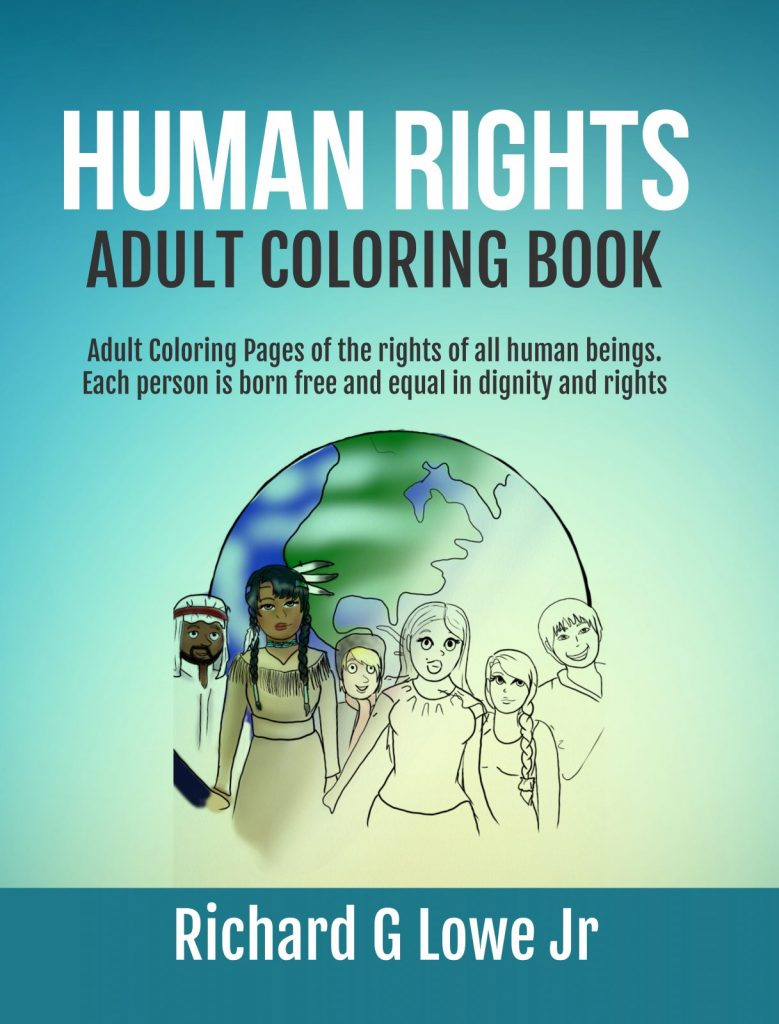 Human Rights Adult Coloring Book
